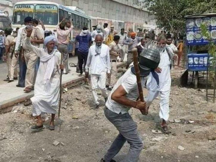 Haryana Farmers, Haryana Farmers Protest, Haryana Farmers Attacked, Haryana Farmers Videos