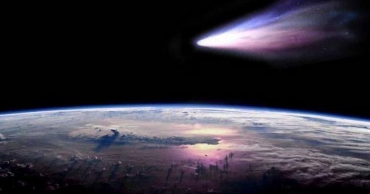 Asteroid zooming past Earth