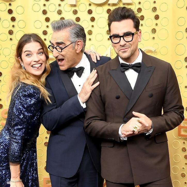 Schitt's Creek crew at Emmys 2020 / Agencies