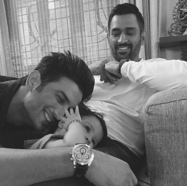 MS Dhoni with Sushant Singh Rajput / Instagram