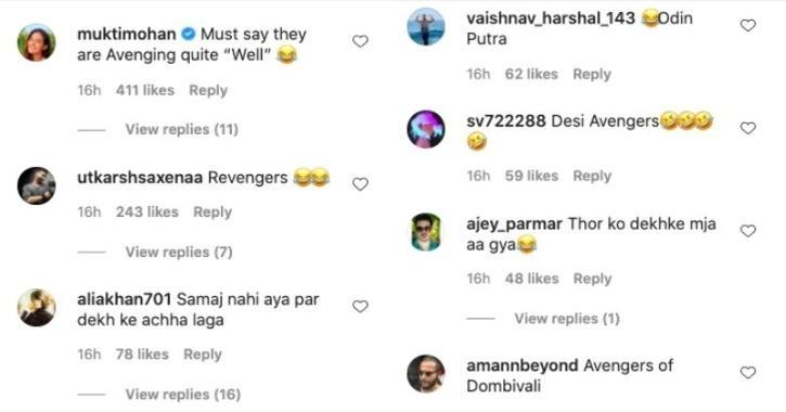 Avengers comments