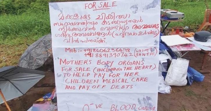 Organ Sale, Kerala Organ Sale,  Shanthi, Ernakulam, Organs For Sale, KK Shailaja