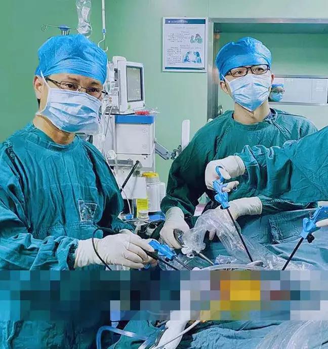 surgery on man