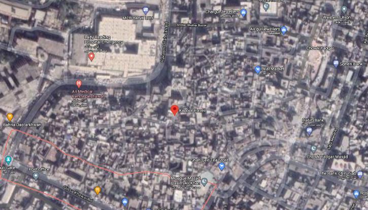 Raj Kapoor Haveli in prime location in Peshawar Market