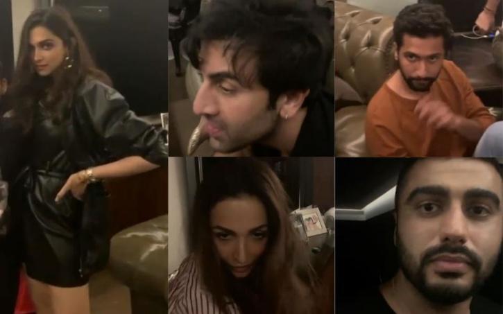 Several celebrities at Karan Johar
