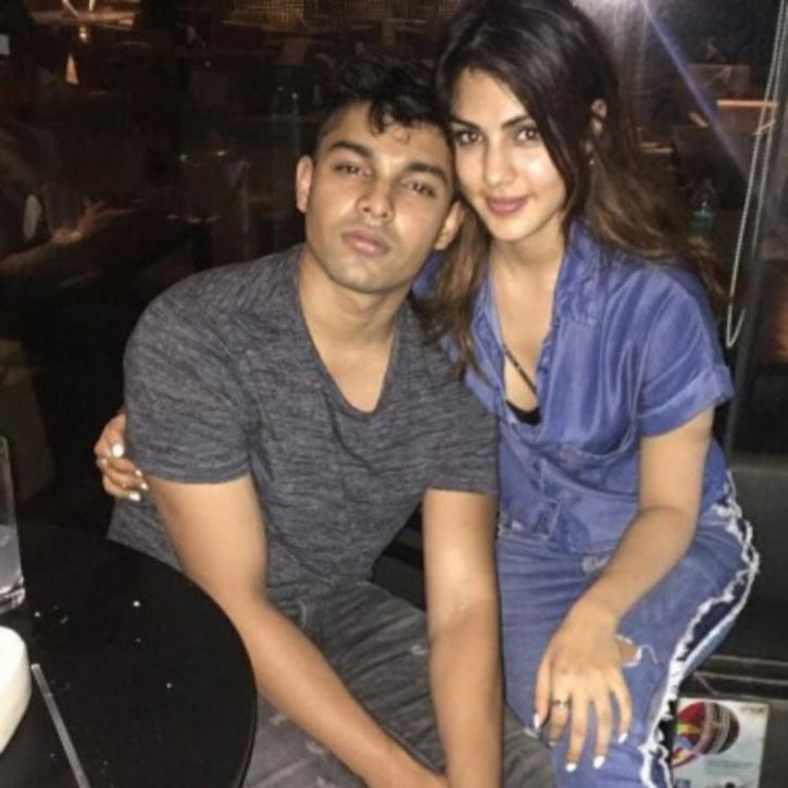 Rhea Chakraborty with Showik Chakraborty / Instagram