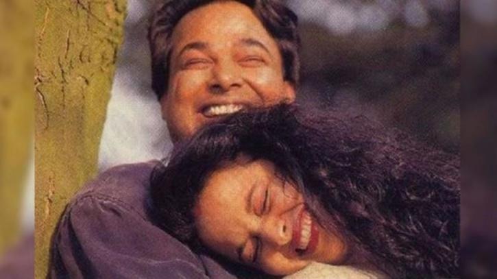 Rekha with husband Mukesh Agarwal