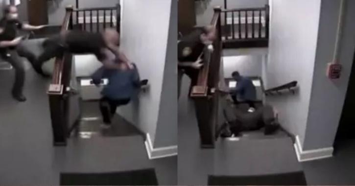 suspect running away