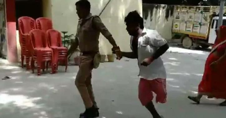 twitter differently abled man pushed to ground