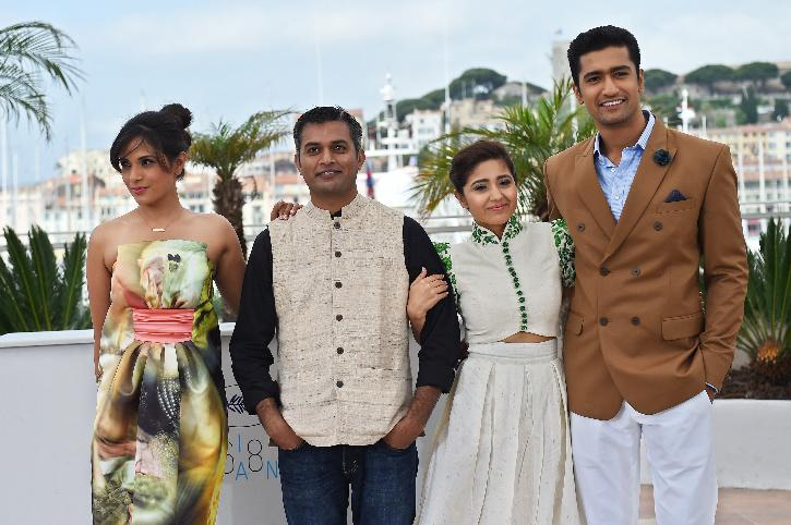 Neeraj Ghaywan with the team of Masaan at Cannes Film Festival.