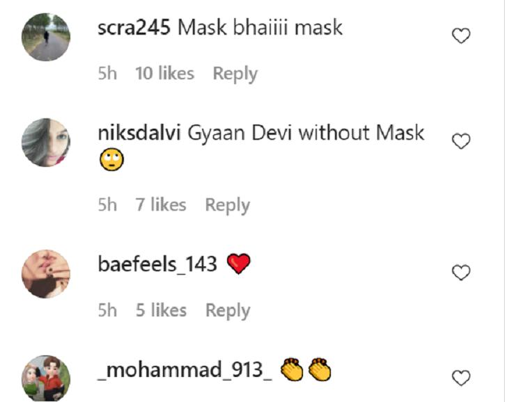 Kangana Ranaut trolled for not wearing a mask.