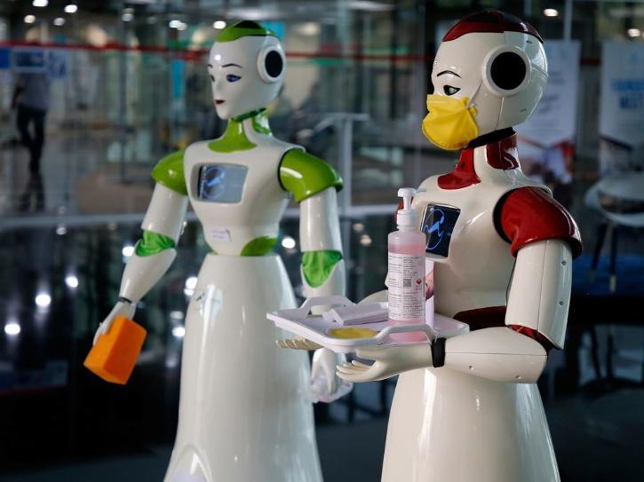 Robots sanitising floors automation jobs