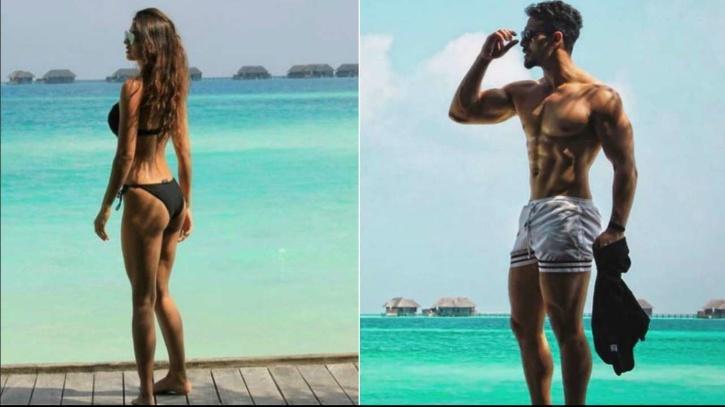 Disha Patani and Tiger Shroff in Maldives / Instagram