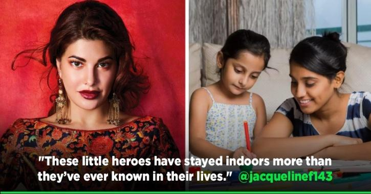Jacqueline Fernandez Gives Shoutout To Children For Staying Indoors To Fight COVID-19 Pandemic