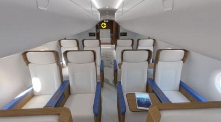 US President Plane inside cabin