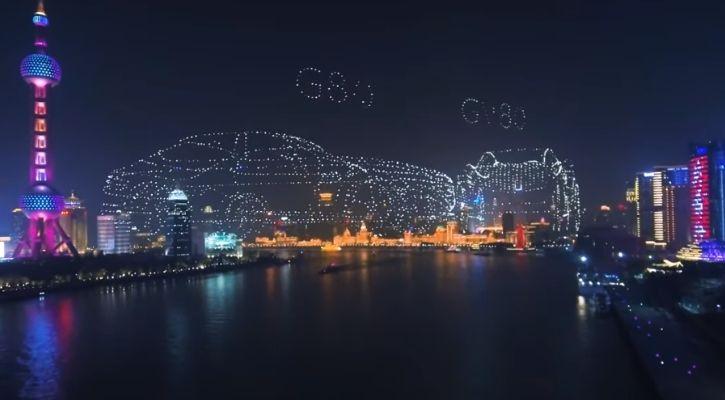 genesis drone light show world record