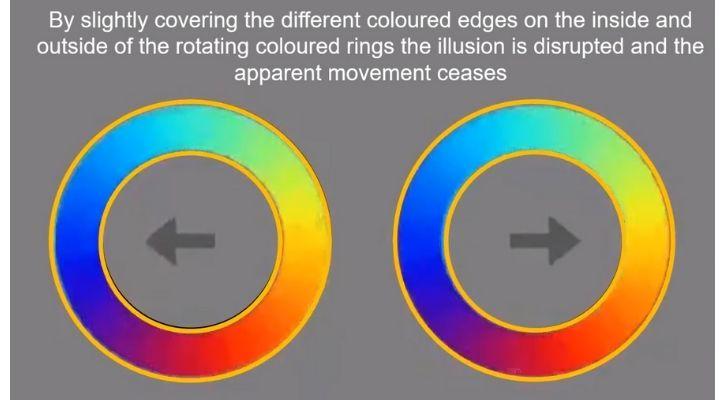 colourful circle optical illusion