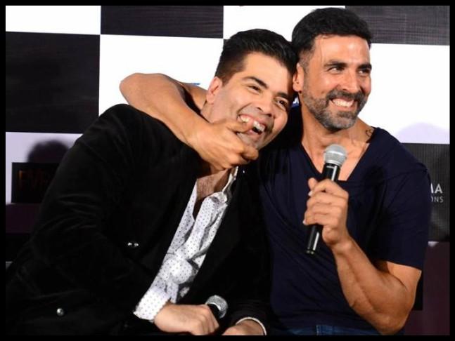 Karan Johar and Akshay Kumar / Twitter
