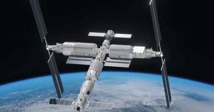 An artist's impression of the completed Chinese Space Station
