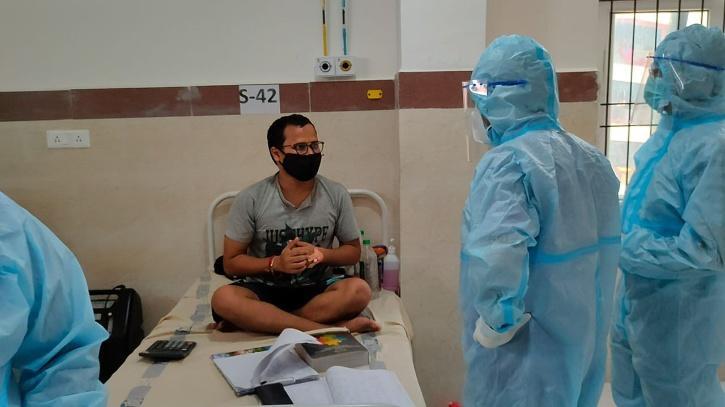 Covid patient preparing for CA exams