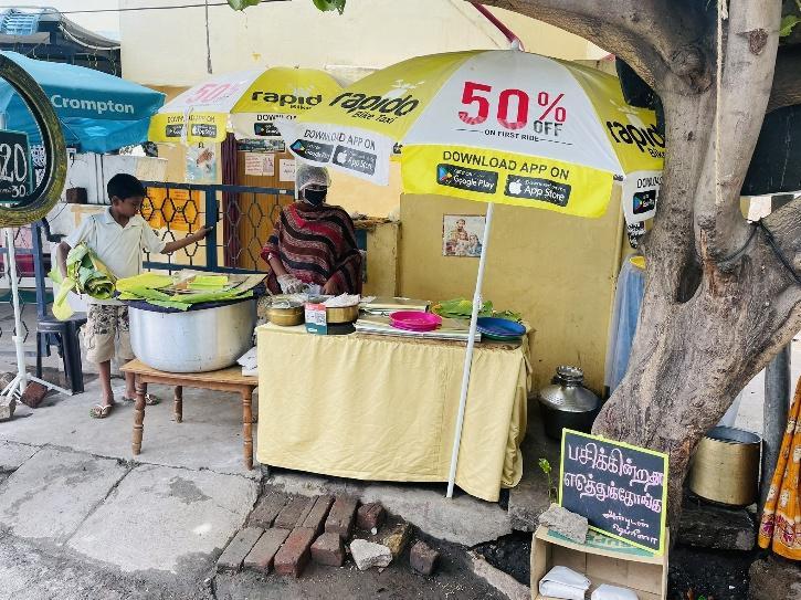 Coimbatore biryani stall offering free biryani