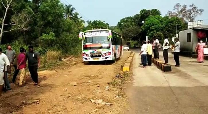 Then gram panchayat held an emergency meeting and with the help of earth excavating machine, created a parallel road next to the booth and constructed a temporary
