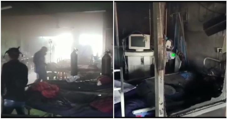 raipur hospital fire