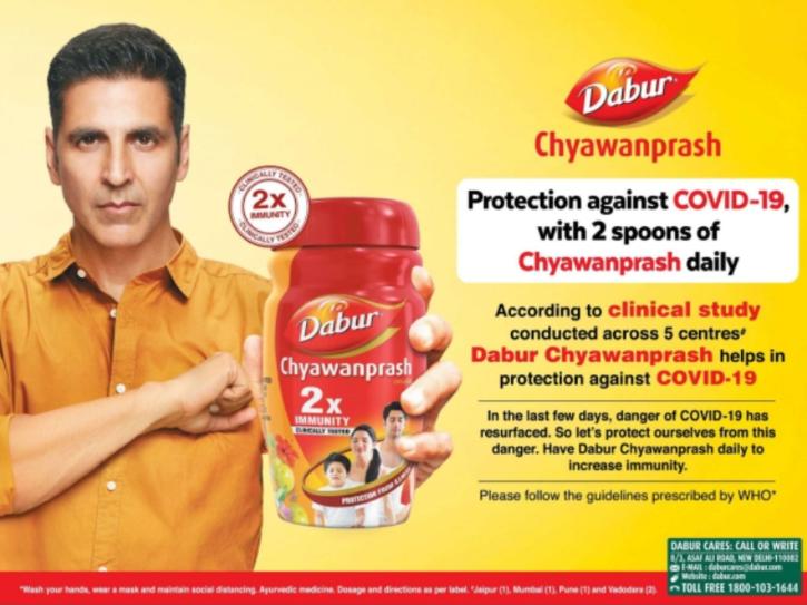 Akshay Kumar trolled for Dabur Chyawanprash advertisement after testing positive for COVID-19.