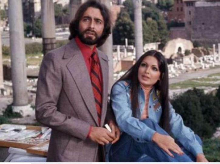 Kabir Bedi and Parveen Babi.