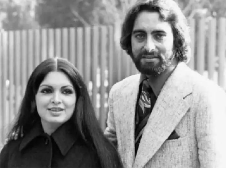 Parveen Babi and Kabir Bedi.