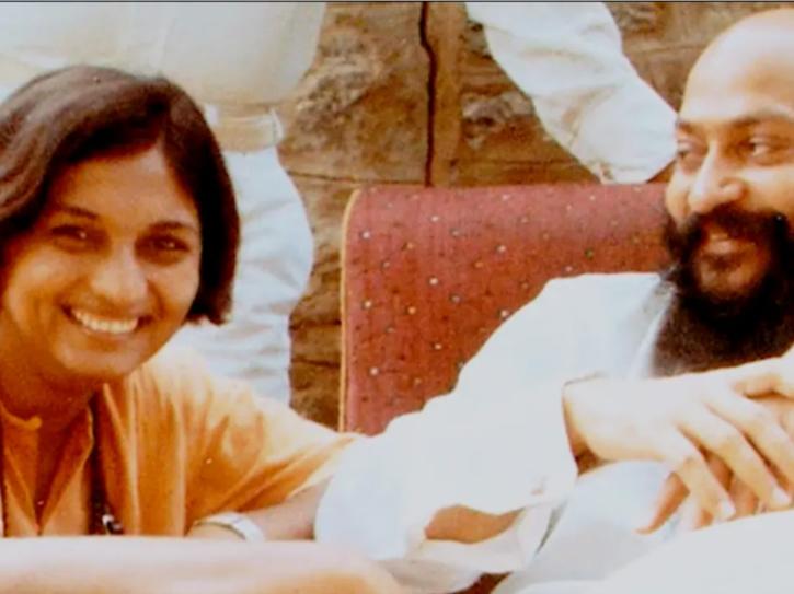 Searching For Sheela: Ma Anand Sheela with Osho aka Rajneesh aka Bhagwan.