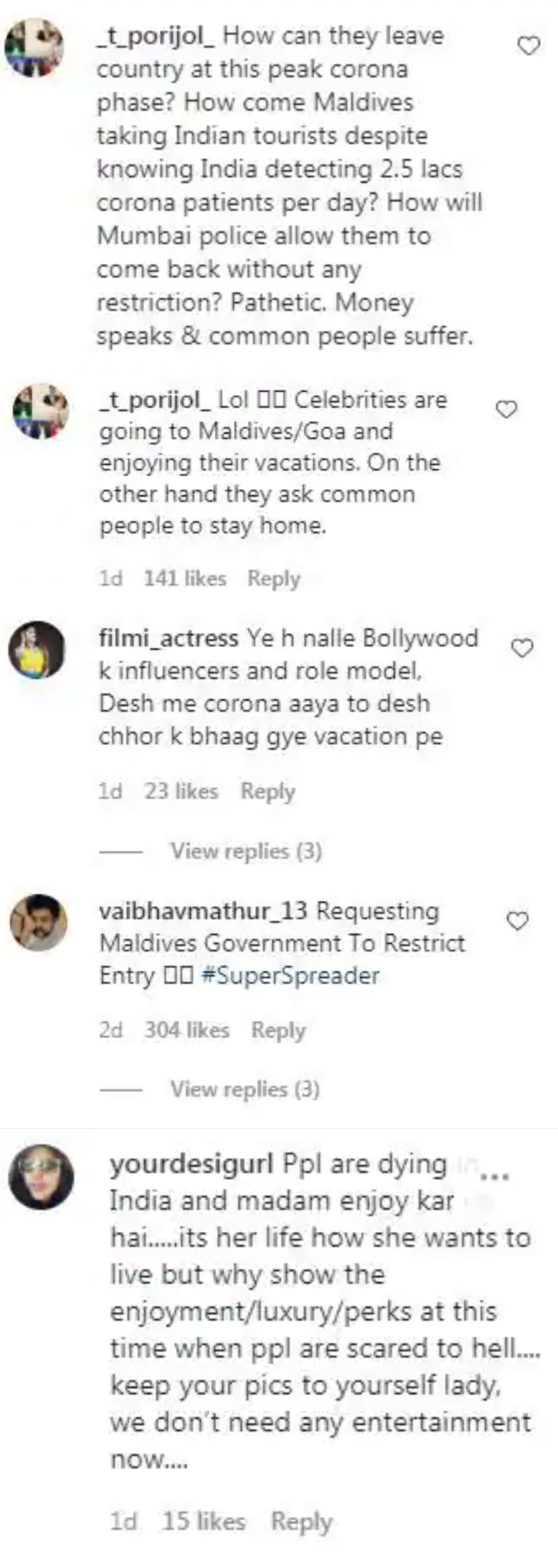 Celebs get trolled for Maldives vacation