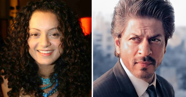 Kangana Ranaut and Shah Rukh Khan