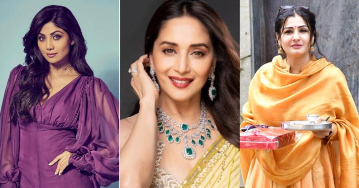 Shilpa Shetty, Madhuri Dixit and Raveena Tandon / Indiatimes