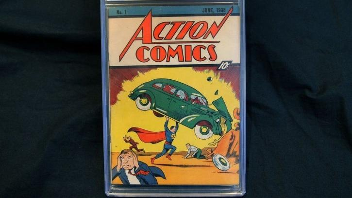 A rare copy of comic book that introduced superman for the first time has sold for a record-breaking price.