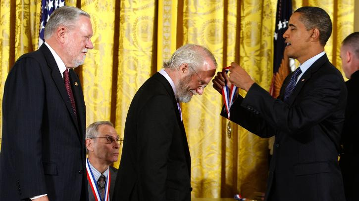 """Charles """"Chuck"""" Geschke being conferredthe prestigious National Medal of Technology and Innovation"""