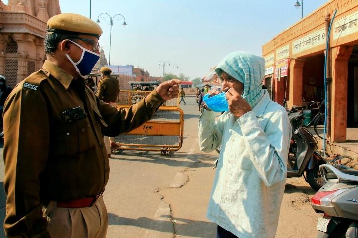 A man for Uttar Pradesh's Deoria has become the first offender to be fined Rs 10,000 for not wearing a mask in public.