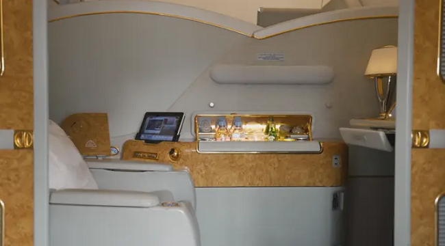 The YouTuber made a film on the 'world's shortest first-class flight' and it cost me only £60.