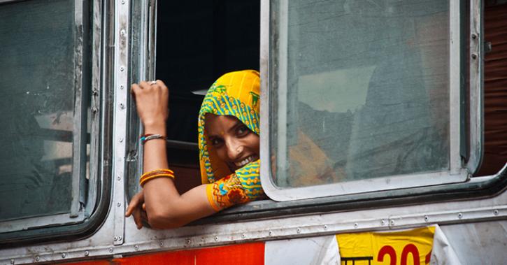 free bus ride women