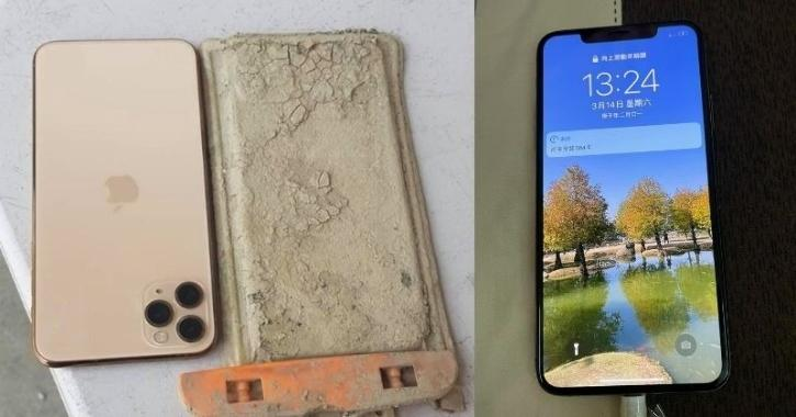 iPhone retrieved from dried lake in Taiwan