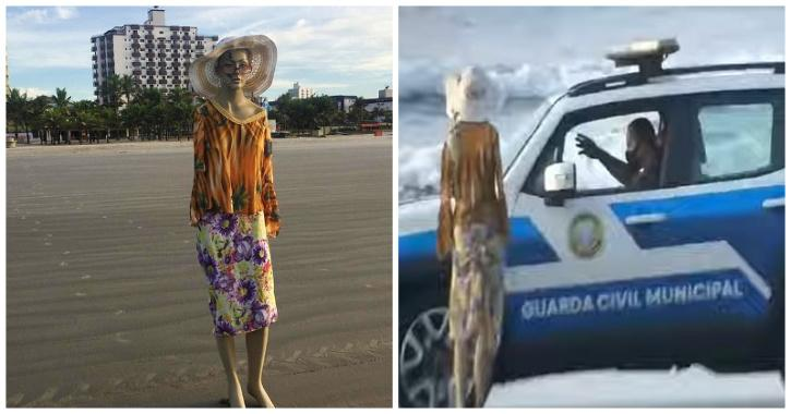 Brazil man pranks police by placing mannequin on beach closed due to Covid-19 restrictions