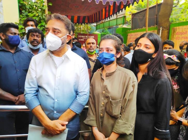 Tamil Nadu Elections 2021:  Rajnikanth, Kamal Haasan, Ajith, & Others Reach To Cast Their Votes