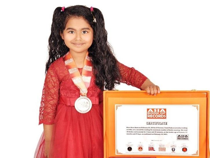 The World Book of Records in London called Kiara Kaur a 'child prodigy' and certified her