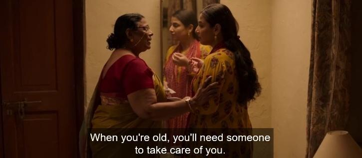 Vidya's mother asks her to have kids, she is quick to clarify that she has no intention of becoming a mother.