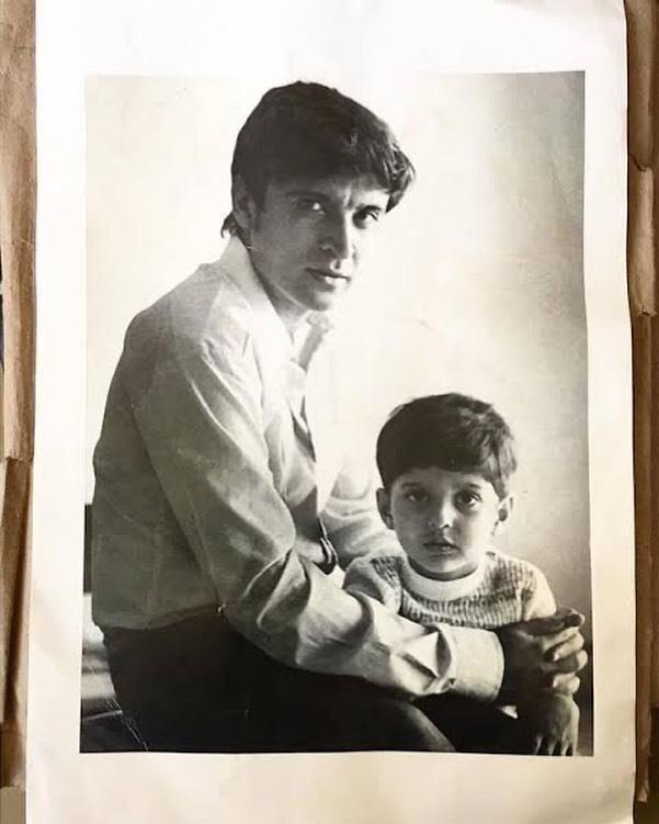 Javed Akhtar with son Farhan