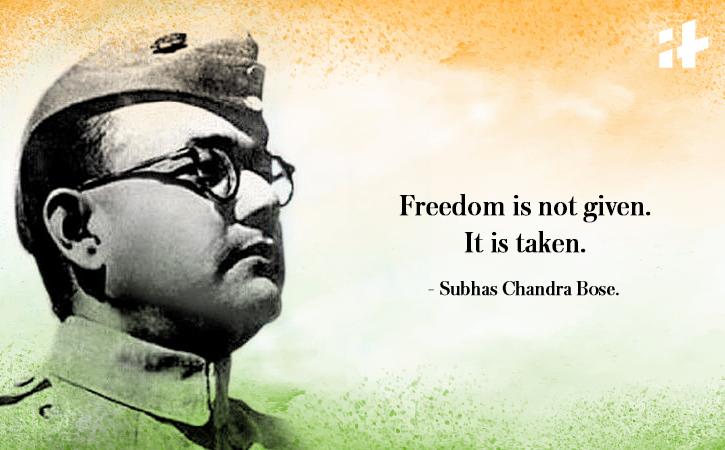 Subhas Chandra Bose quote
