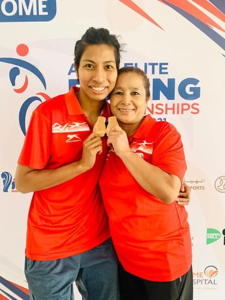 lovlina and her coach sandhya