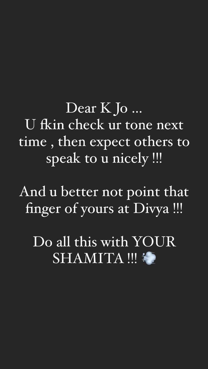 Karan Johar Receives Flak Again As He Blasts Divya Agarwal & Sides With Shamita Shetty!