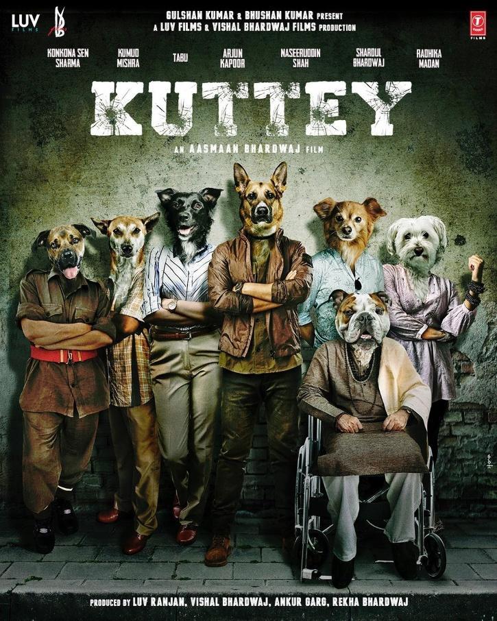 Today Vishal Bhardwaj announced his multi-starrer production Kuttey, featuring Arjun Kapoor, Konkona Sen Sharma, Naseeruddin Shah, Tabu, and Radhika Madan.