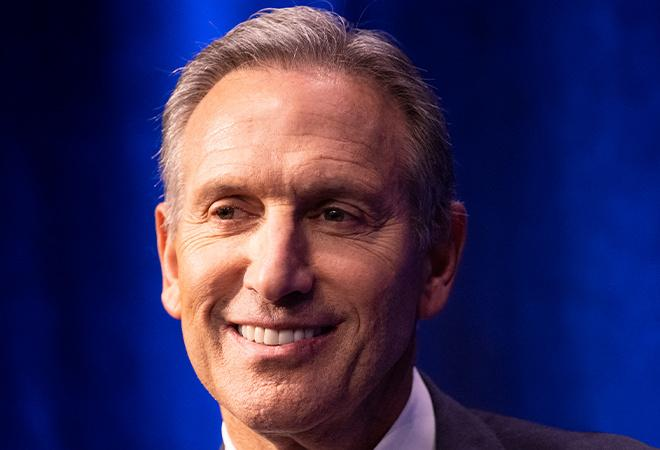 Before and after picture of Howard Schultz
